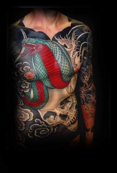small japanese tattoos for men 80 japanese snake design for cool ink ideas