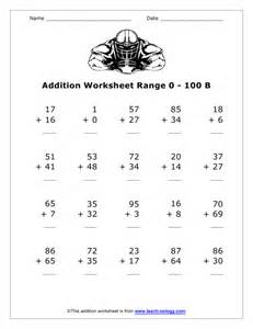 math addition worksheets 100 problems