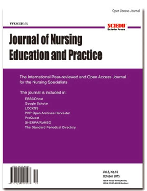 Free Printable Nursing Journal Articles   journal of nursing education and practice