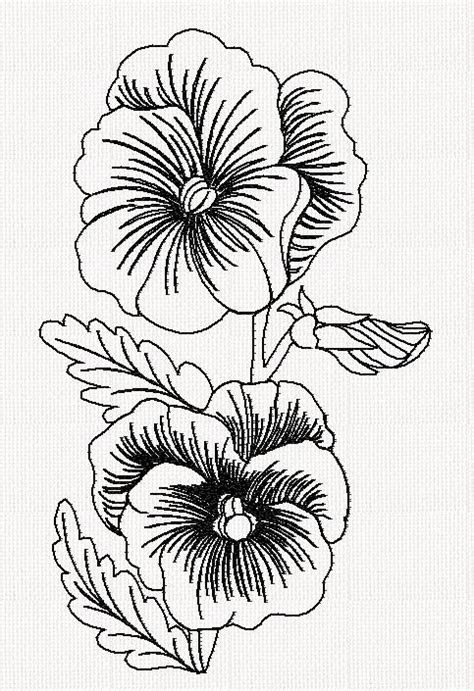 pansy flower tattoo pansy flower redwork embroidery embroidery flowers