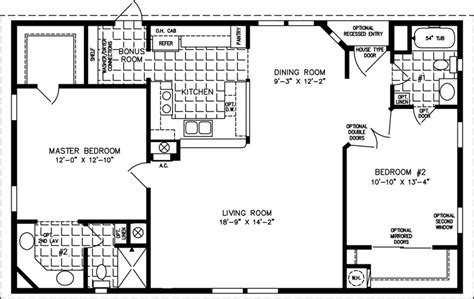 1000 sq ft house plans 2 bedroom 1000 sq foot house plans the tnr 4446b manufactured home floor plan jacobsen