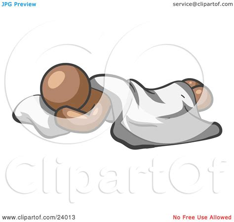 how to comfortably sleep on the floor clipart illustration of a comfortable brown man sleeping
