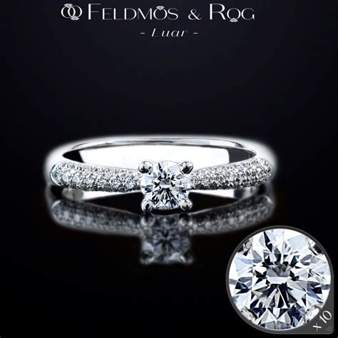 solid white gold 18k ring diamond engagement ring