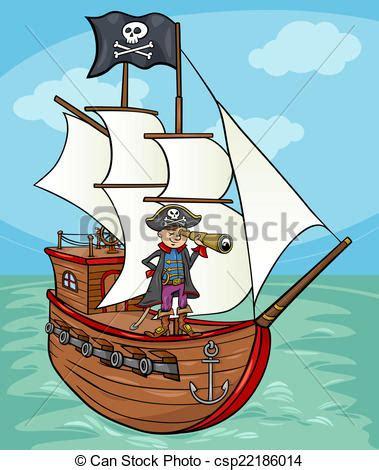 dessiner un bateau pirate clip art vecteur de bateau pirate illustration dessin