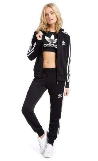 Adidas Cus S 3 trening dama adidas cu pantaloni conici negru treninguri