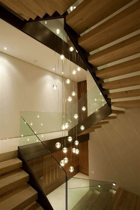 Staircase Lighting Fixtures Bocci 14 Entry Stair Stairs Interior Design And Glass Chandelier
