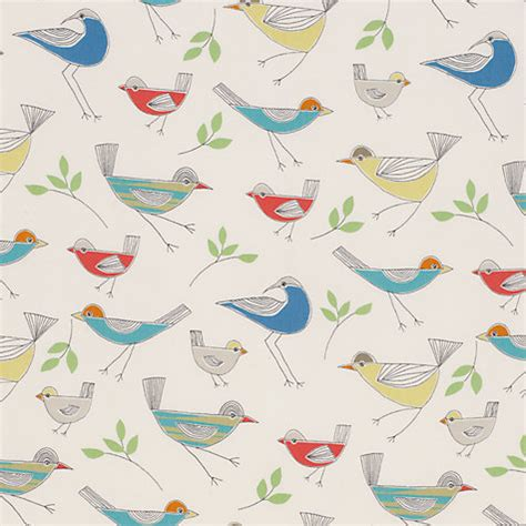 bird pattern fabric uk buy little home at john lewis stick birds furnishing