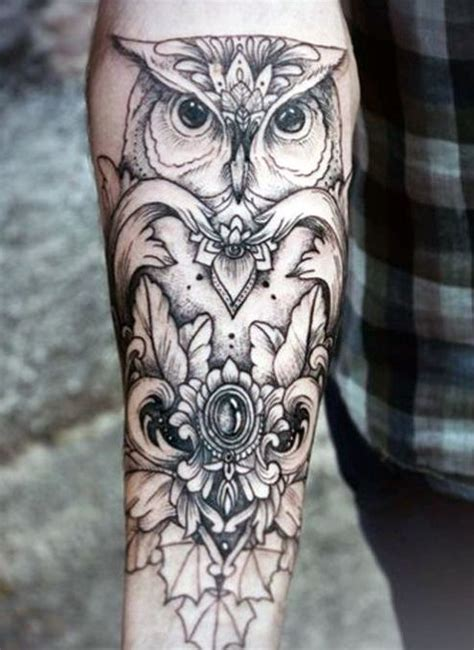 lower arm tattoo designs for men owl ideas for forearm tatto