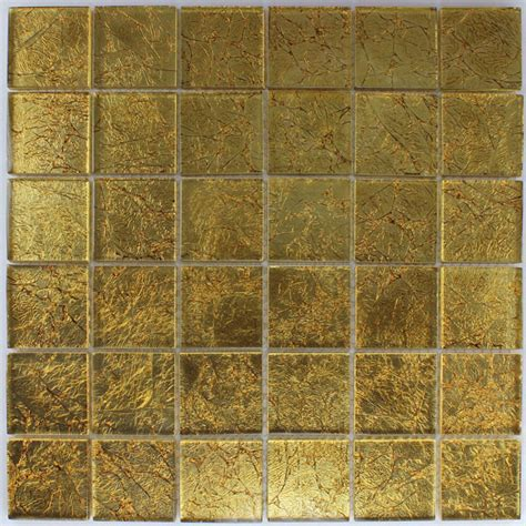 glasmosaik fliesen 48x48x8mm gold metall 2h90001m
