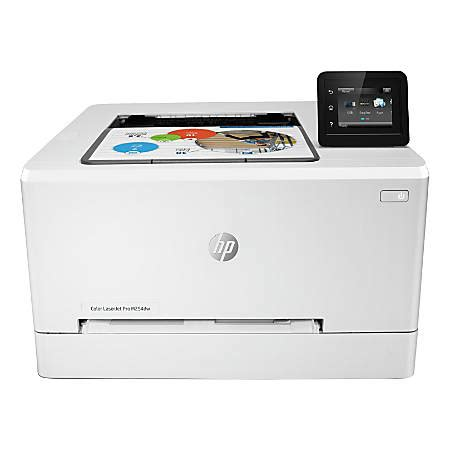 office depot color printing hp laserjet pro m254dw wireless color laser printer t6b60a