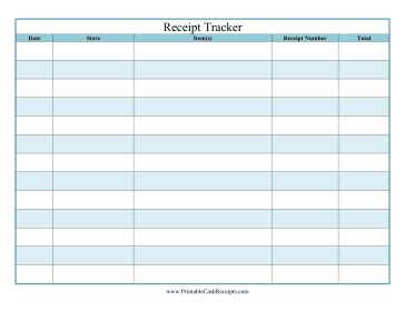 receipt tracker template this printable receipt tracker is great for home use and