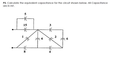 capacitor resistor parallel equivalent circuit calculate the equivalent capacitance for the circu chegg