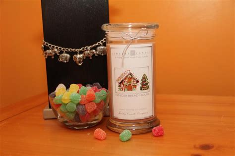 gingerbread house jewelry candle giveaway