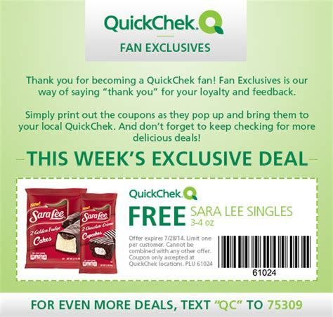 Quick Chek Gift Card - freebies for july 22nd 2014 quot deal quot icious mom