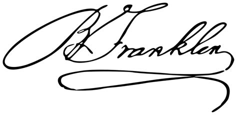 Signature Wardrobe by File Autograph Of Benjamin Franklin Svg Wikimedia Commons