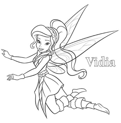 vidia tinkerbell coloring page embroidery digi people