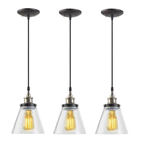 Hanging Pendant Light Globe Electric Jackson 1 Light Vintage Edison Antique Brass Bronze And Black Hanging Pendant 3
