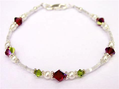 Handmade Birthstone Jewelry - swarovski beaded bracelets images