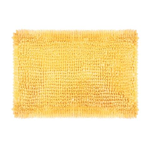 butter chenille 17 in x 24 in bath mat in