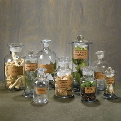 Bathroom Apothecary Jars by Set Of 9 Apothecary Jars Eclectic Bathroom Canisters