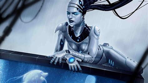 wallpaper robot girl robot full hd wallpaper and background 2048x1152 id 375120
