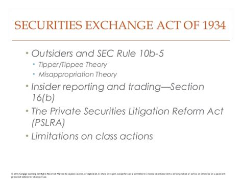 section 16 b exchange act elet5e ch20