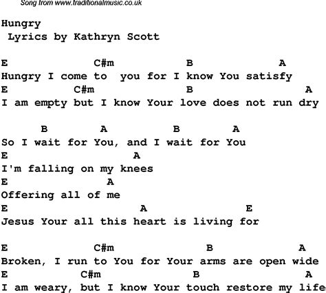 Gospel Song Chords
