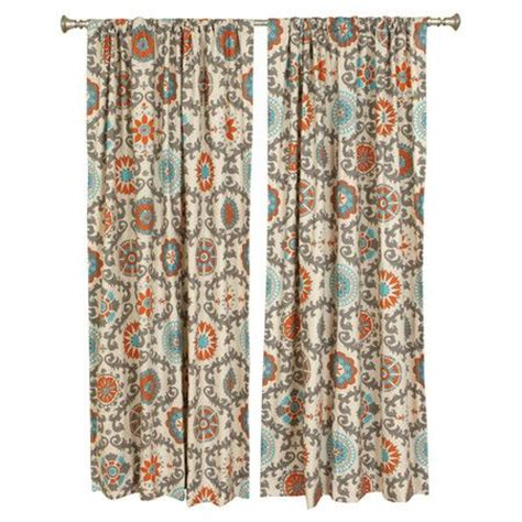Aqua And Orange Curtains with Aqua And Orange Curtains Orange And Aqua Astera Print Curtains Aqua Orange Medallion Curtains