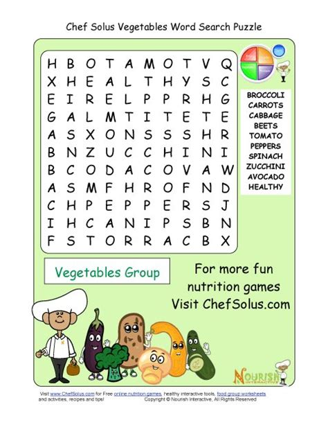 printable  word search puzzle vegetables group