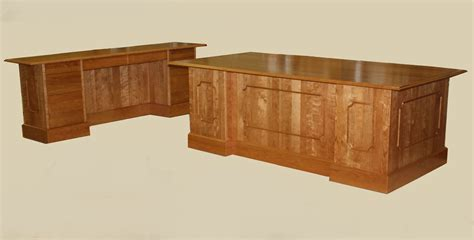 Handmade Office Furniture - custom solid wood executive desks and conference table