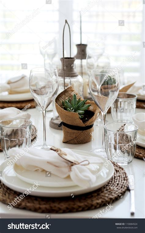 table setting for lunch summer table setting for lunch stock photo 110084924