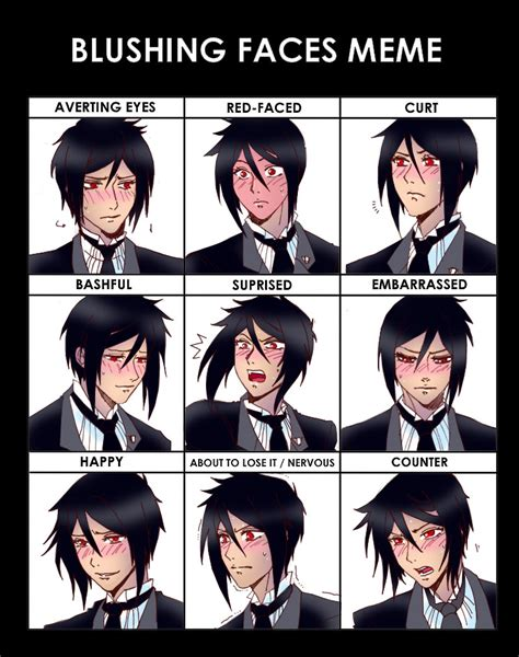 Sebastian Meme - blush sebastian michaelis photo 25063038 fanpop