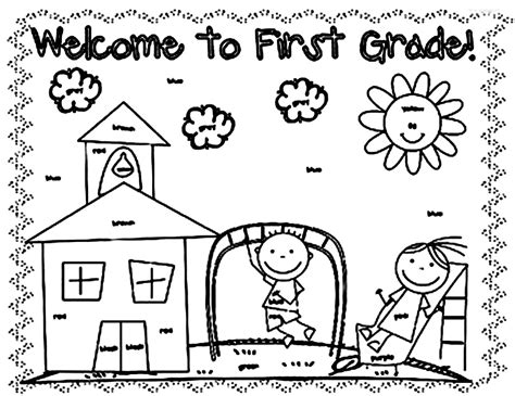 Coloring Pages For 1st Graders Coloring Pages For First Graders Az Coloring Pages