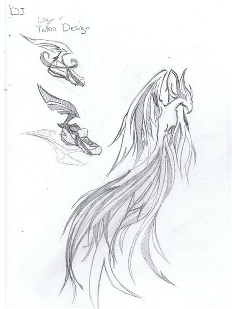 tattoo phoenix sketch di phoenix tattoo sketch real photo pictures images and
