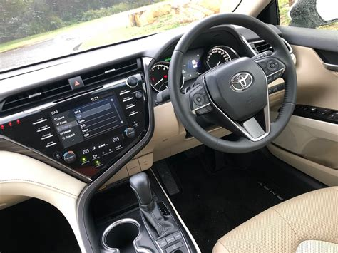 interior camry 2018 2018 toyota camry sl v6 review behind the wheel