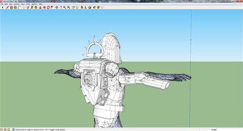 Sketchup Papercraft - scaling pepakura armor tutorial amino