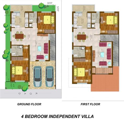 4 bedroom villa conseptz 4 bedroom independent villa floor plan