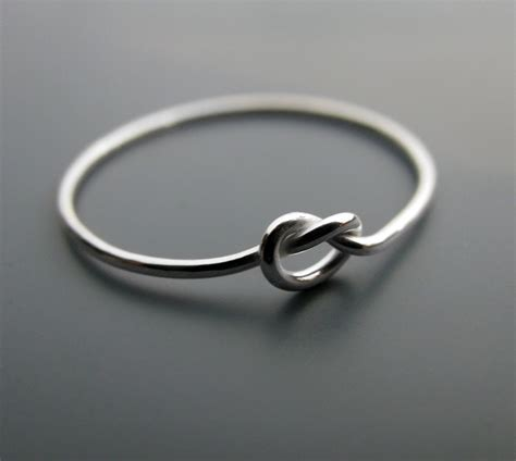 simple knot ring thin recycled sterling silver promise ring