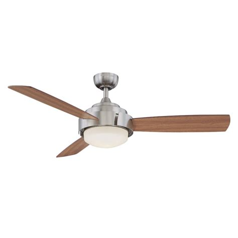 harbor breeze ceiling fan harbor breeze 52 in elevation brushed nickel ceiling fan