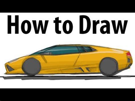 How to draw a Lamborghini Murciélago   Sketch it quick