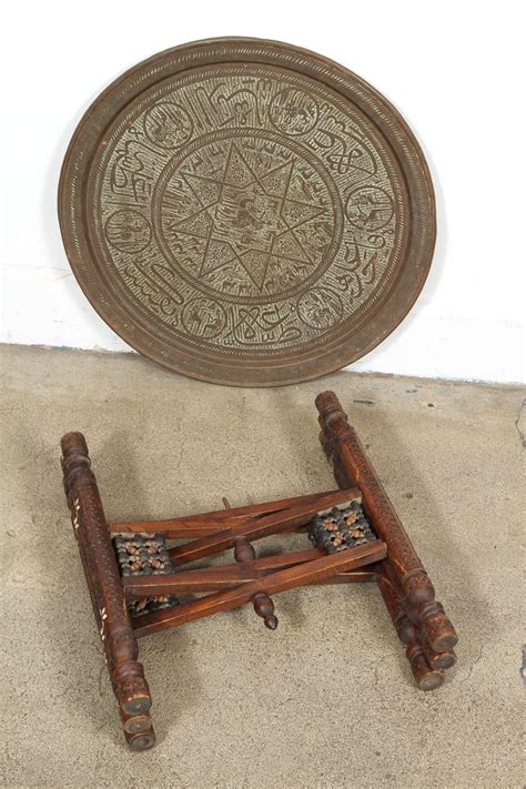Antique Brass Table L by Antique Middle Eastern Brass Tray Table For Sale At 1stdibs
