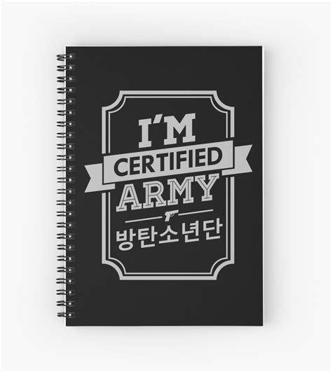 Home Decor Bg by Quot Certified Bts Army Quot Spiral Notebooks By Skeletonvenus