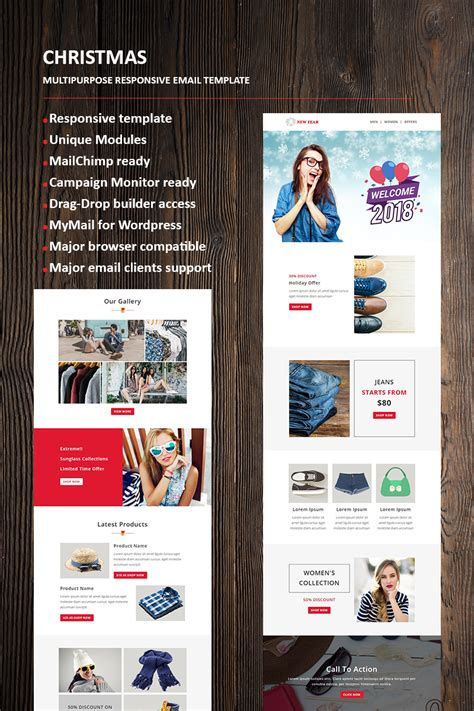 New Year Email Newsletter Template 66336 Mailchimp New Year Template