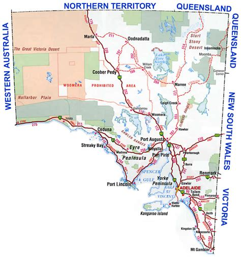 south australia map south australia region map map of australia region political