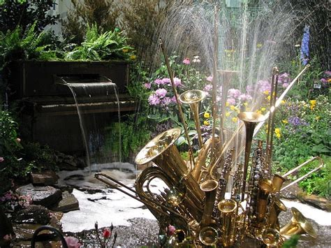 backyard instruments backyard garden fountains from upcycled materials