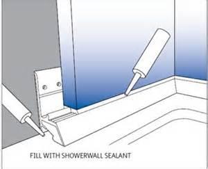 Shower Bath Base multipanel base seal strip