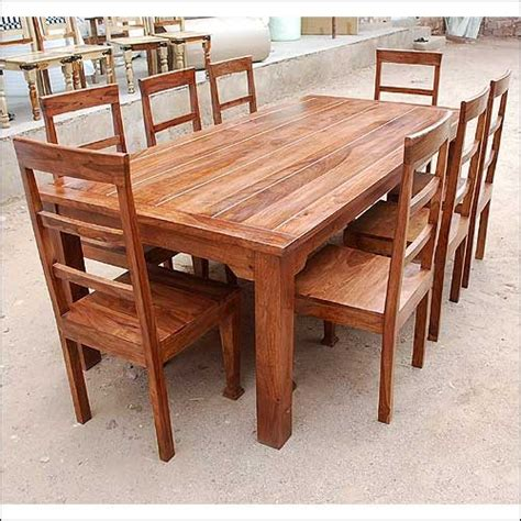 The Block Dining Tables Rustic Furniture Solid Wood Dining Table Chair Set