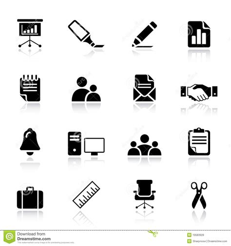 best free royalty free basic office and business icons stock vector