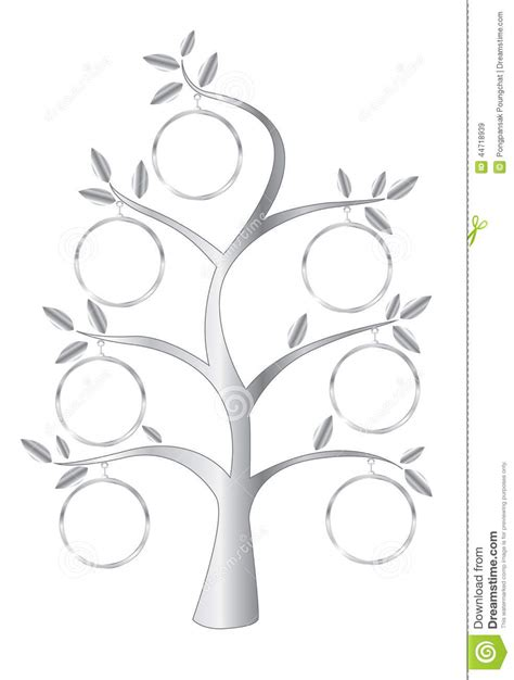Family Tree Stock Vector Image 44718939 Stock Vector Family Tree Template With Portraits Of Relatives And Place For Text On Green