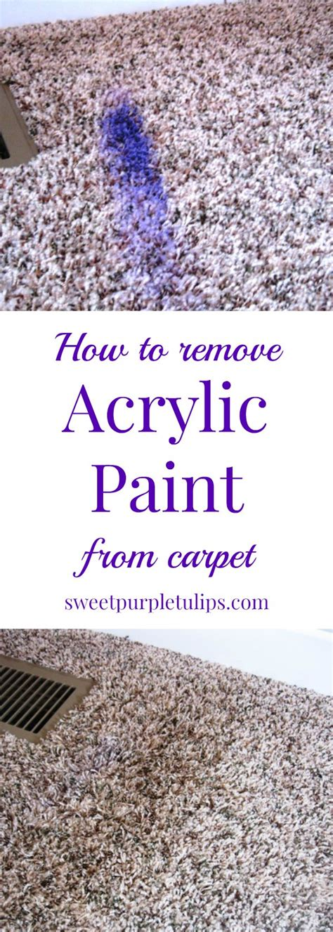 acrylic paint removal from carpet how to remove acrylic paint from carpet sweet purple tulips